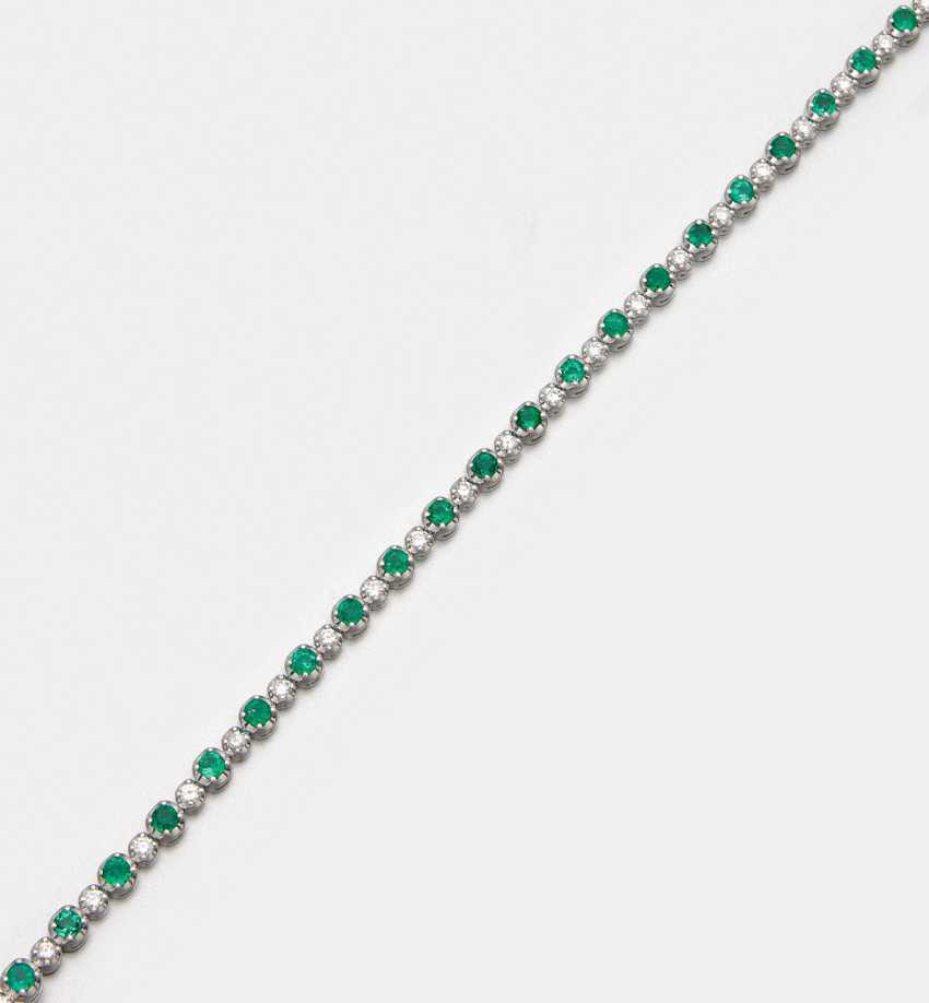 Very fine Colombian emerald diamond bracelet - photo 1