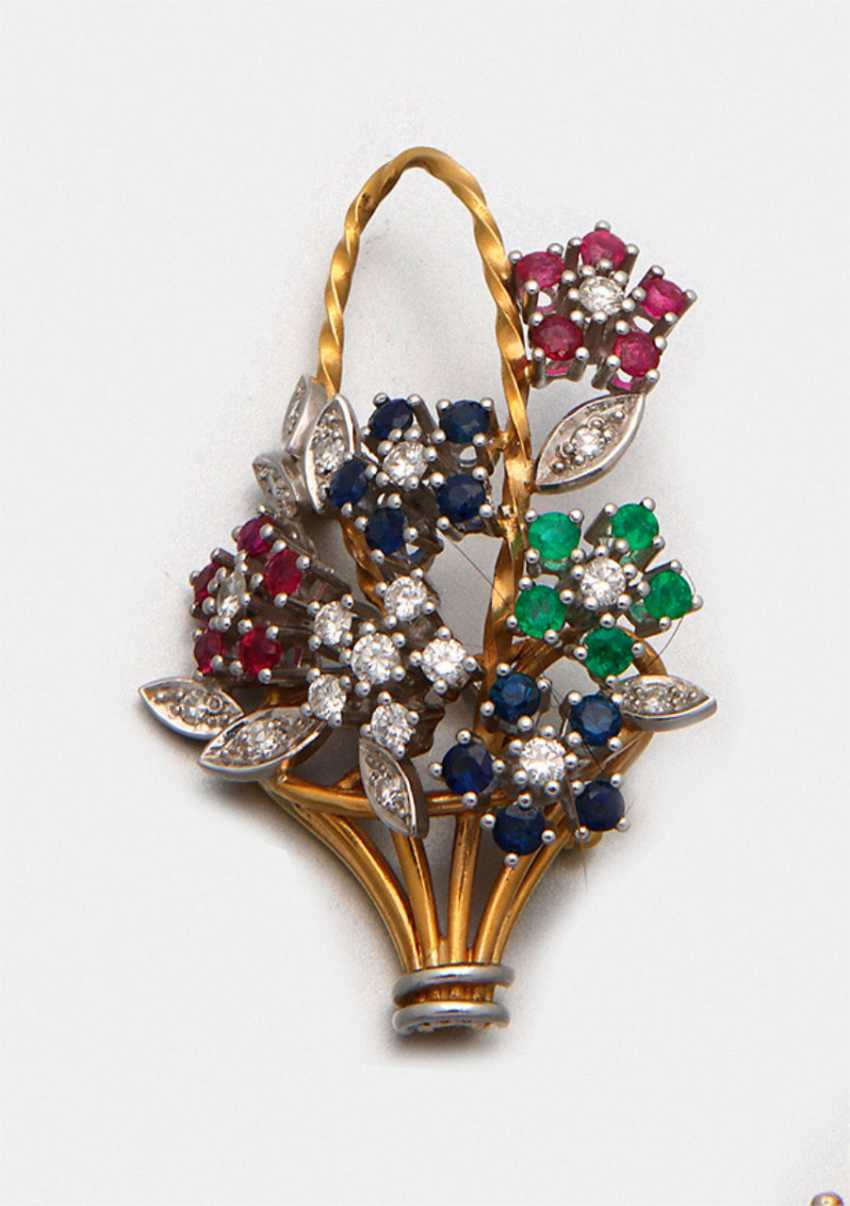 Representative multicolored brooch - photo 1