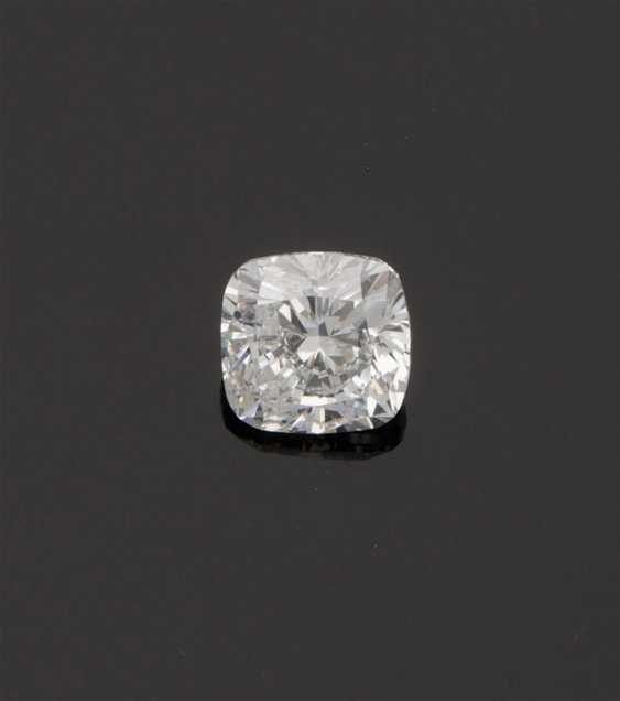 Exquisite diamond solitaire in cushion cut - photo 1