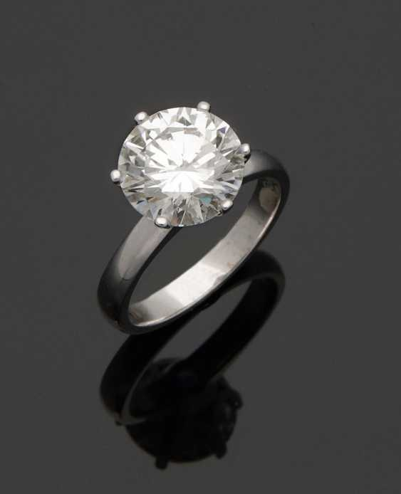 High quality diamond solitaire ring - photo 1