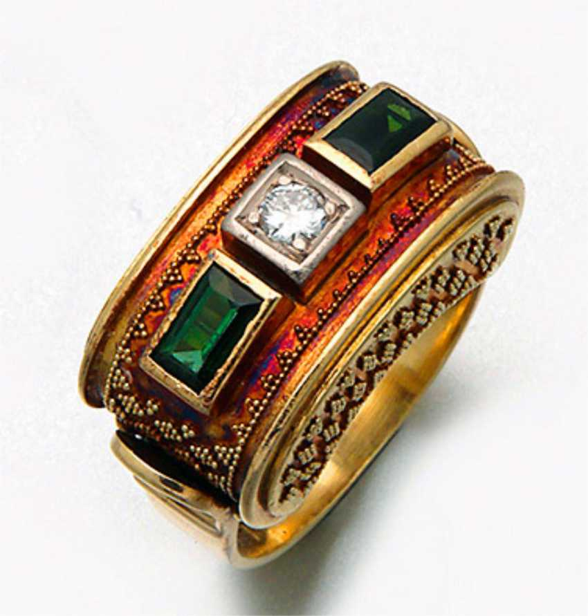 Tourmaline ring from the 50s - photo 1