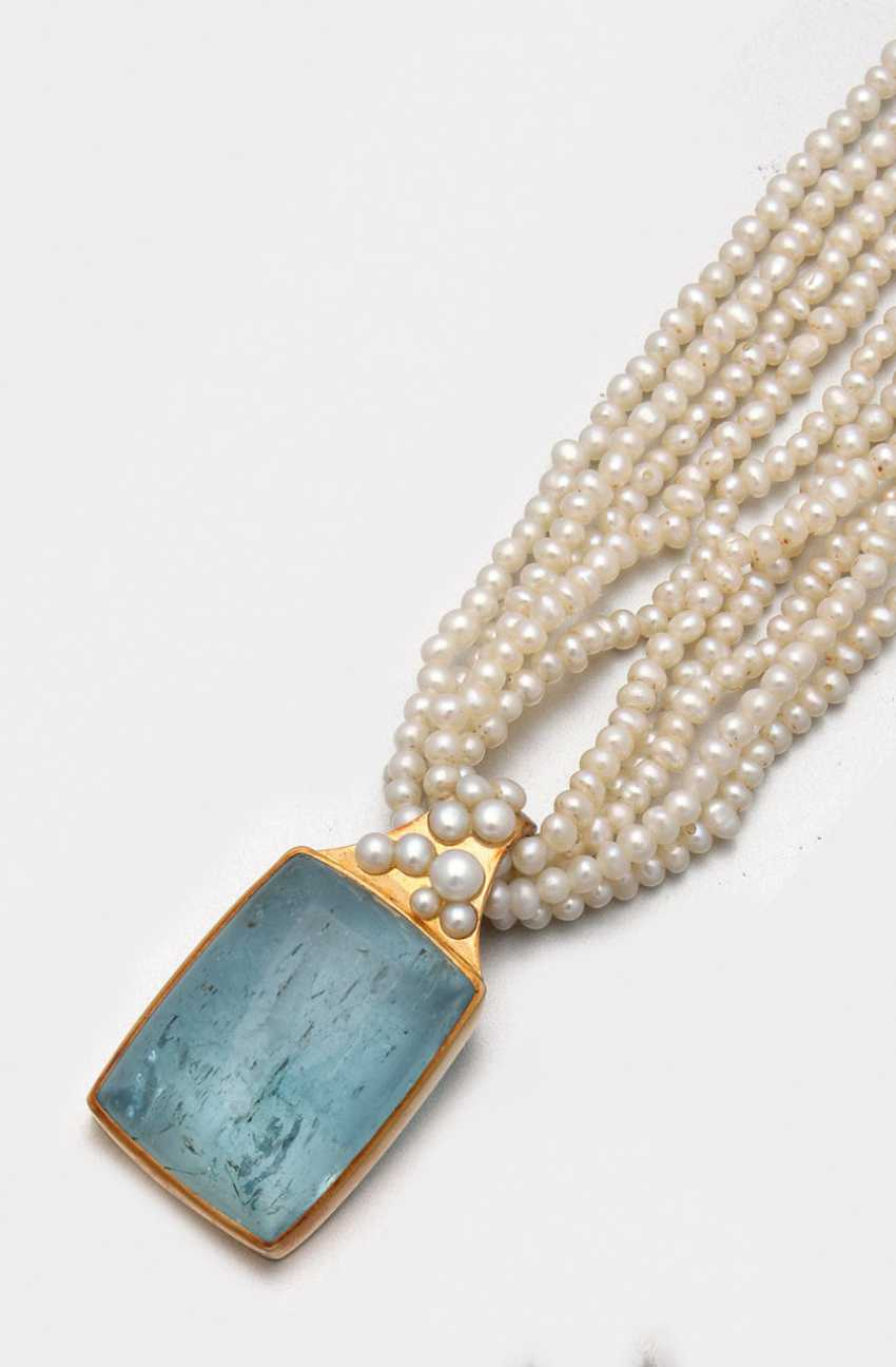 Pearl necklace with tourmaline by Irene Stiefel, Celle - photo 1
