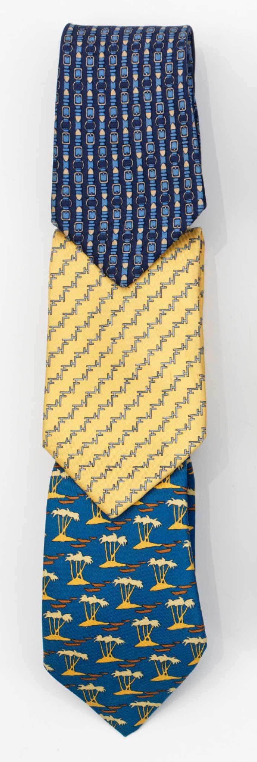 Three silk ties from HERMÈS - photo 1