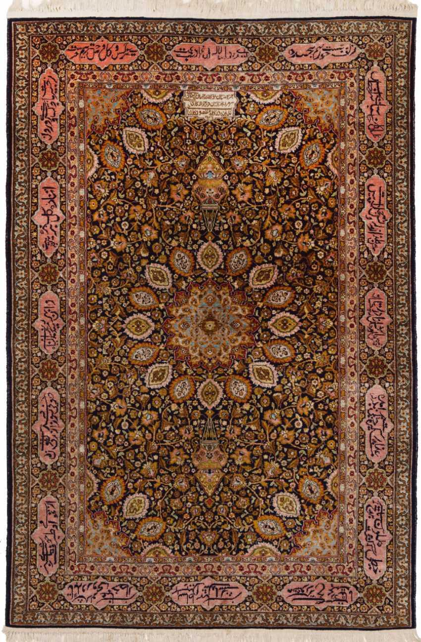 Small cashmere silk carpet - photo 1