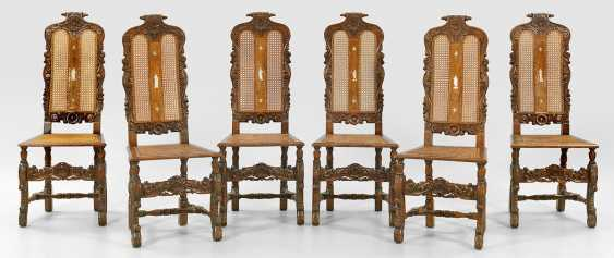 Set of six Baroque chairs - photo 1