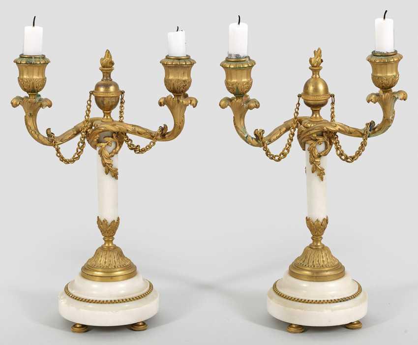 Pair of girandoles in the Louis XVI style - photo 1