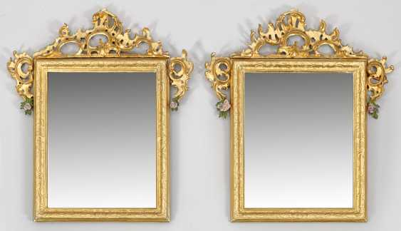 Pair Of Rococo Wall Mirror - photo 1