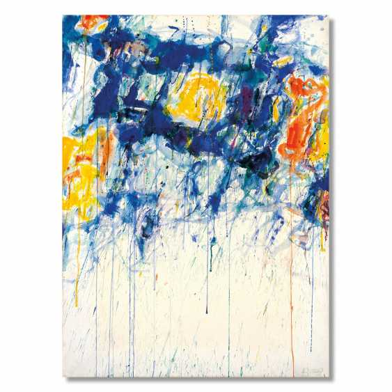 Sam Francis (San Mateo 1923 - Santa Monica 1994): Untitled - Blue, Yellow and White 1956 circa  - photo 1