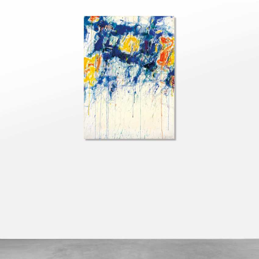 Sam Francis (San Mateo 1923 - Santa Monica 1994): Untitled - Blue, Yellow and White 1956 circa  - photo 2