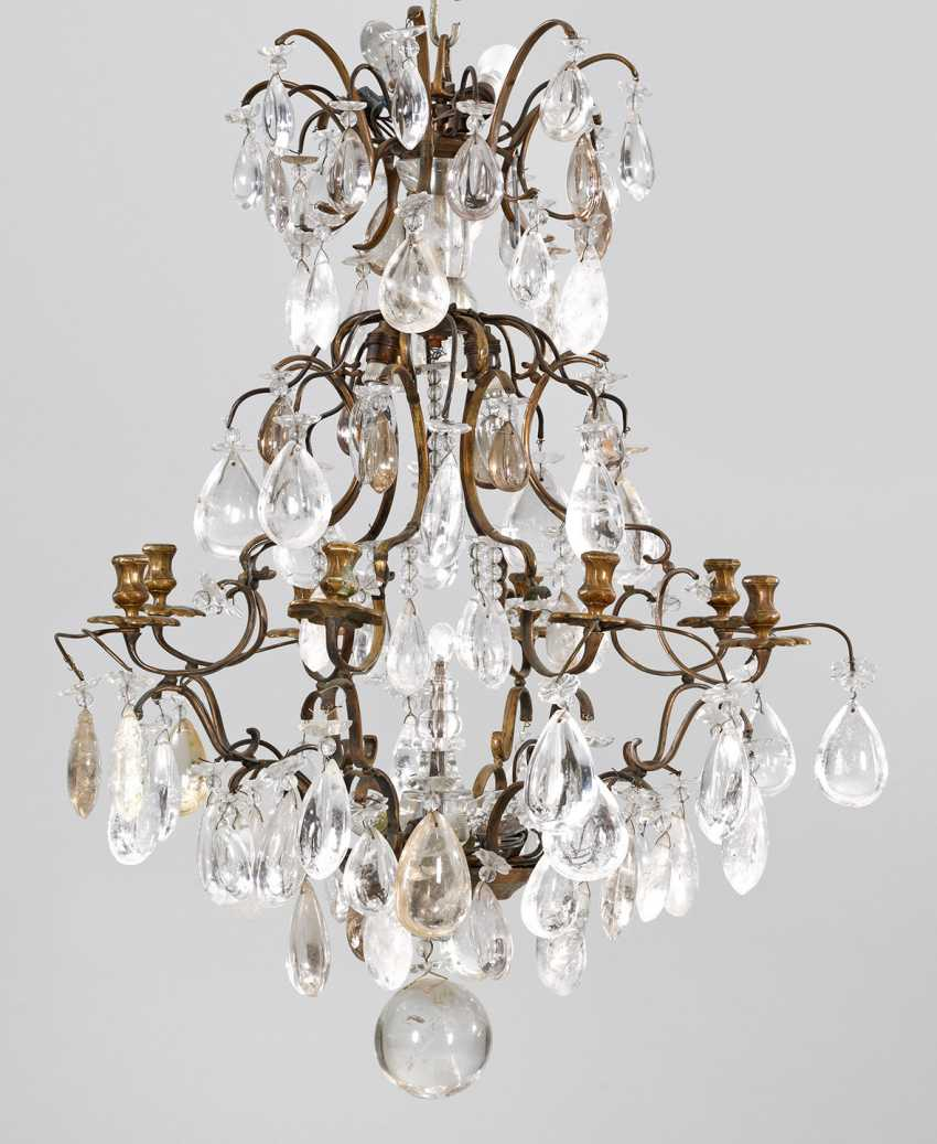 Baroque chandelier with rhinestone trimmings - photo 1