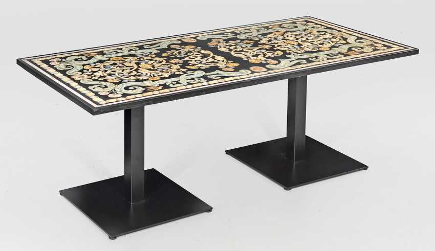 Large table with Scagliola plate - photo 1