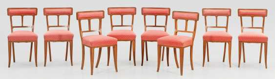 Set of eight art Nouveau chairs - photo 1