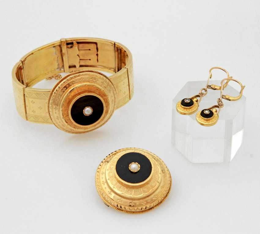 Set: 3 teilig, Gelbgold 18K, - photo 1