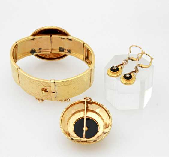 Set: 3 teilig, Gelbgold 18K, - photo 2