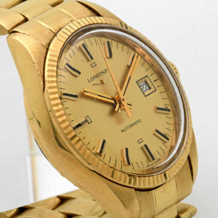 LONGINES Damenuhr, Gelbgold 18 K, - photo 3