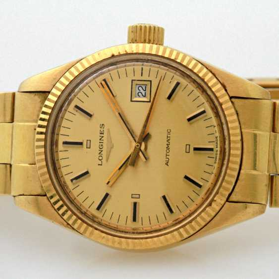 LONGINES Damenuhr, Gelbgold 18 K, - photo 2