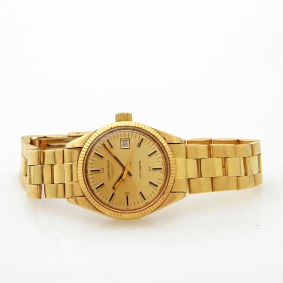 LONGINES Damenuhr, Gelbgold 18 K, - photo 1