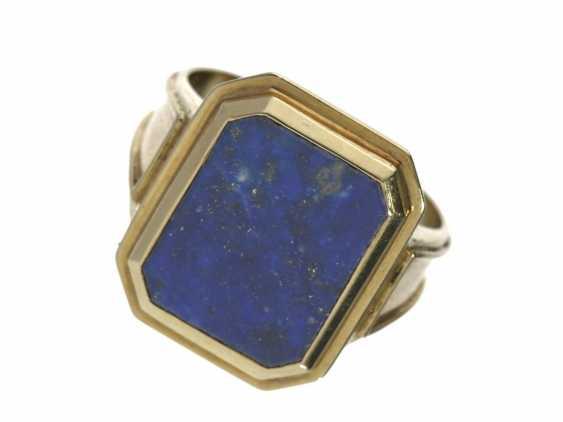 Ring: decorative men's ring with lapis lazuli - photo 1