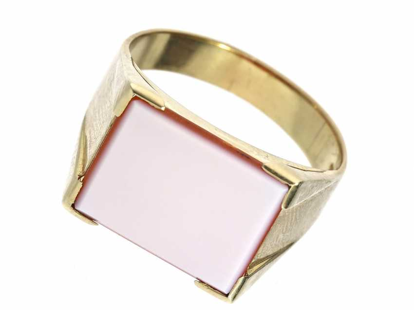 Ring: mint men's ring with ungraviertem location ACHAT - photo 1