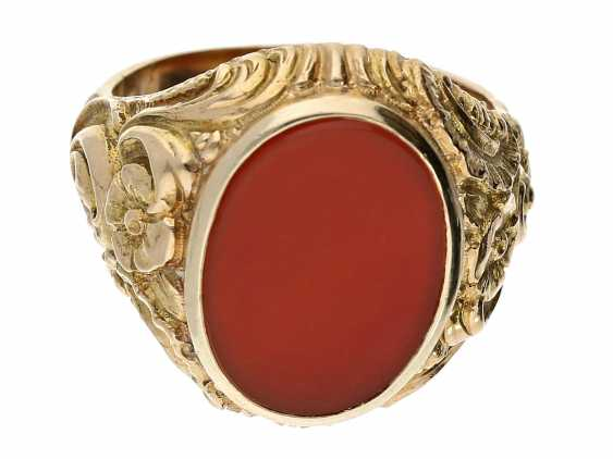 Ring: a decorative and elaborately-crafted vintage men's ring - photo 1
