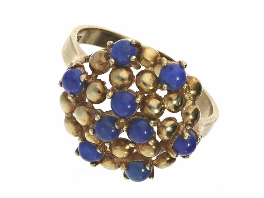 Ring: unusual vintage ladies ring with lapis lazuli - photo 1