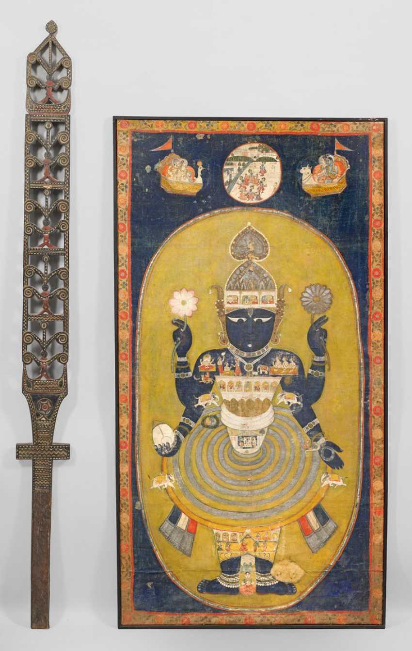 Great Hindu Thangka panel - photo 1