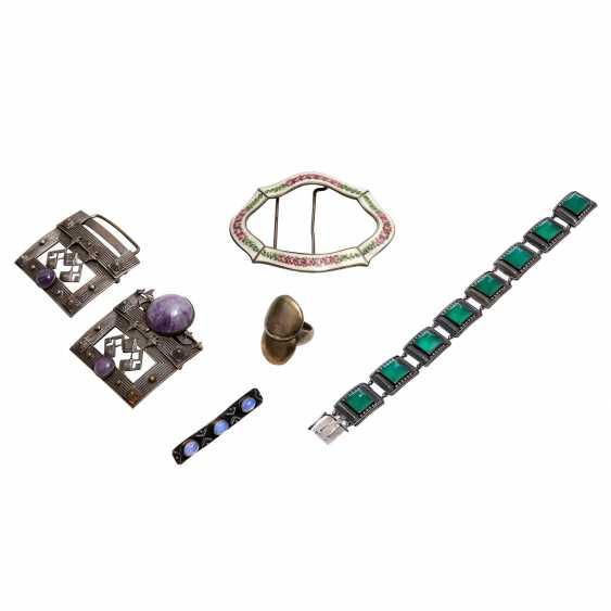Fashion jewelry mixed lot, 5-piece: - photo 1
