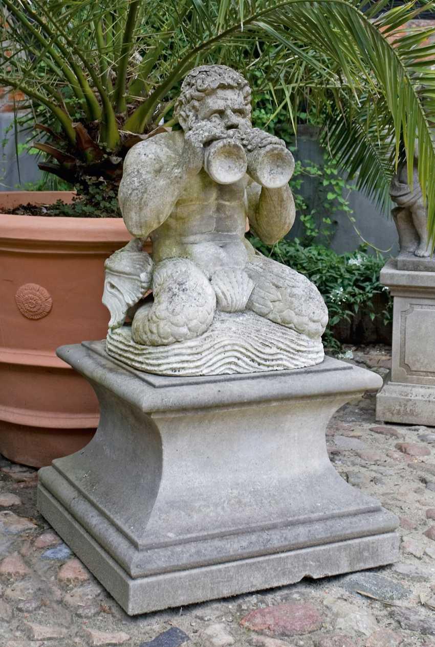 Large sculpture of a Triton - photo 1