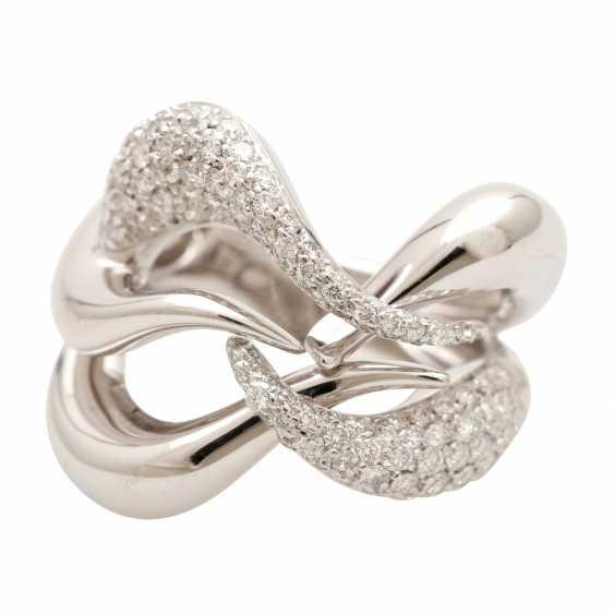 BUCHERER Ring with brilliant-cut diamonds, approximately 1.5 ct, W - LGW / VS - SI, - photo 1