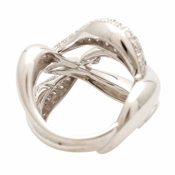BUCHERER Ring with brilliant-cut diamonds, approximately 1.5 ct, W - LGW / VS - SI, - photo 3