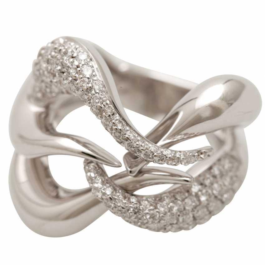 BUCHERER Ring with brilliant-cut diamonds, approximately 1.5 ct, W - LGW / VS - SI, - photo 5