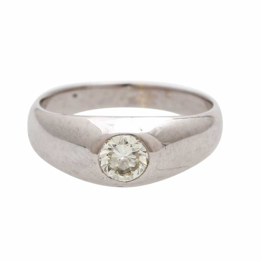 Band ring studded with 1 Brillant CA. 0,50 ct - photo 1