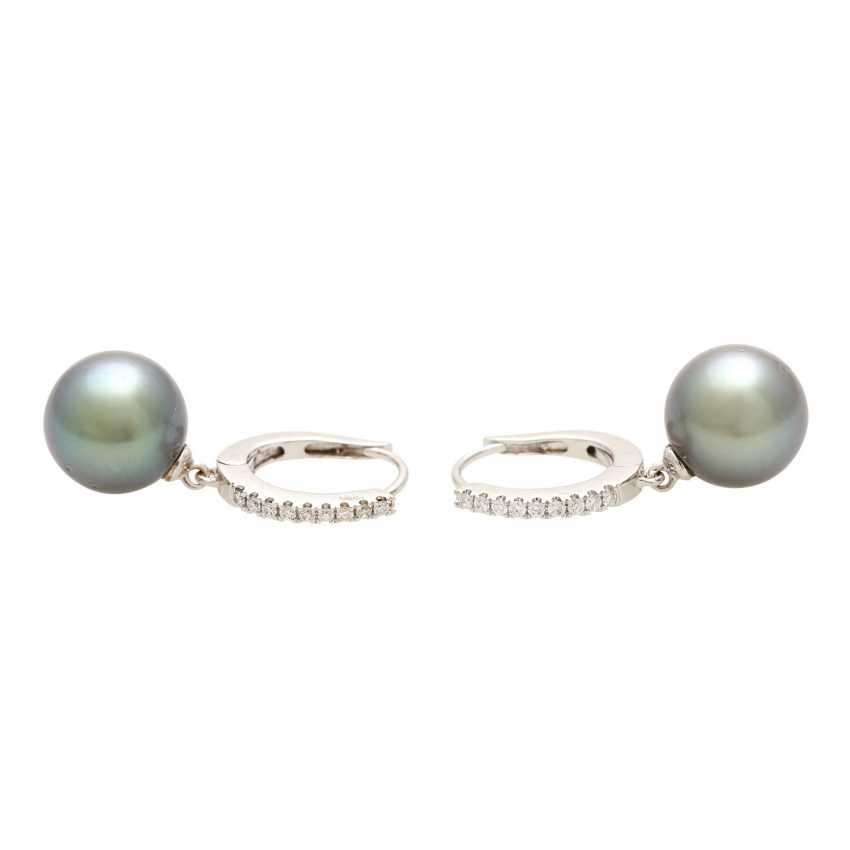 Earrings (Pair) with 1 Tahiti cultured pearl - photo 1