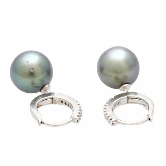 Earrings (Pair) with 1 Tahiti cultured pearl - photo 2