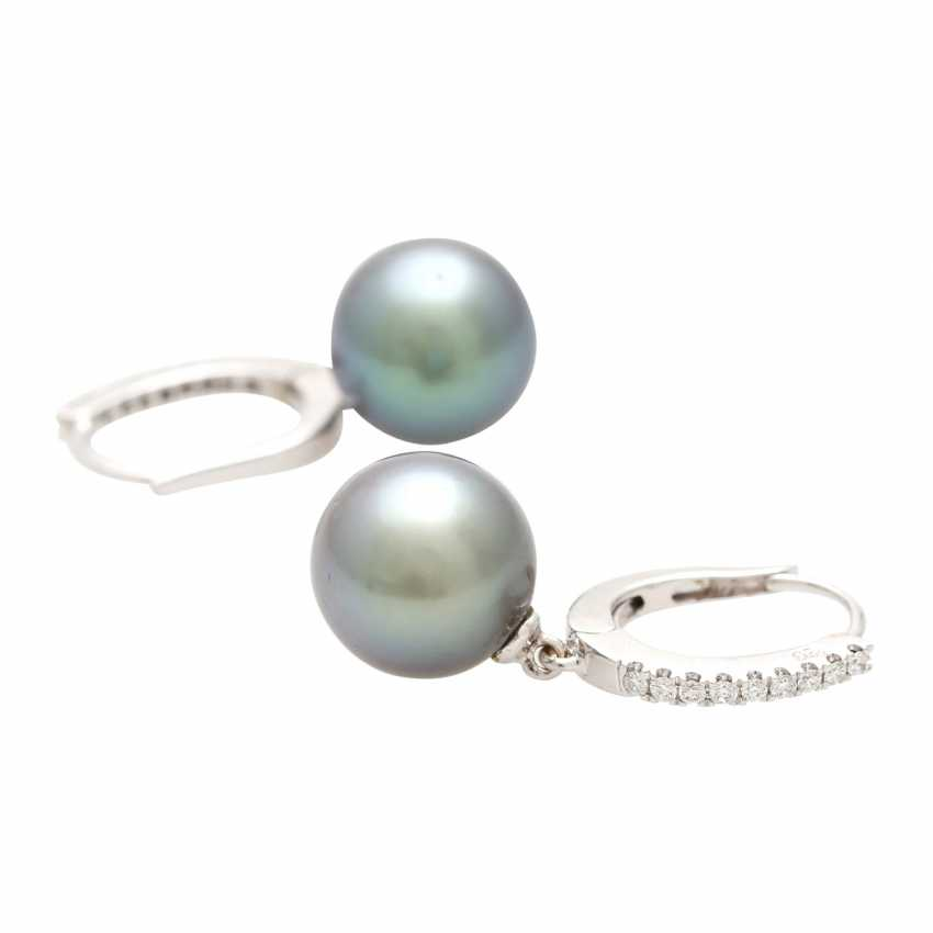 Earrings (Pair) with 1 Tahiti cultured pearl - photo 3