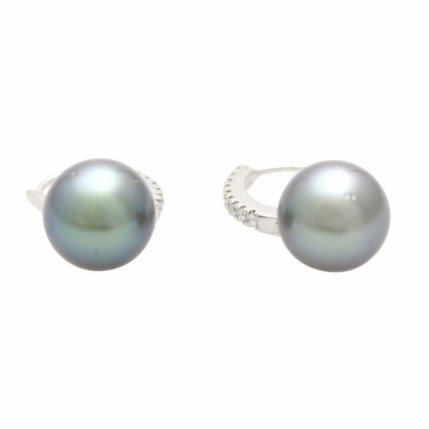 Earrings (Pair) with 1 Tahiti cultured pearl - photo 4