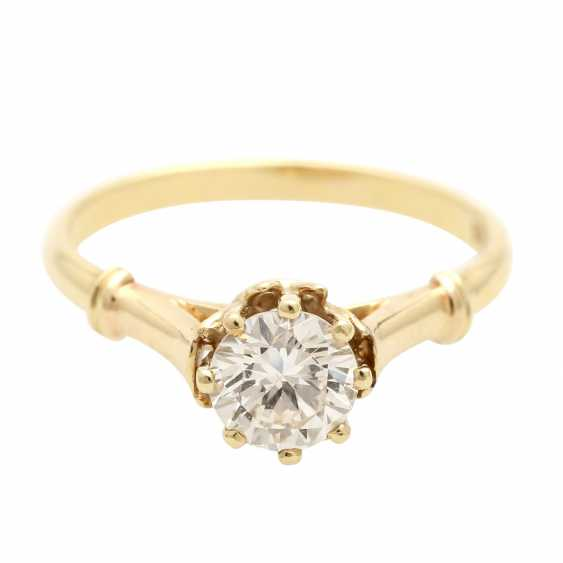 Engagement ring with 1 diamond approx 1,0 ct, - photo 1