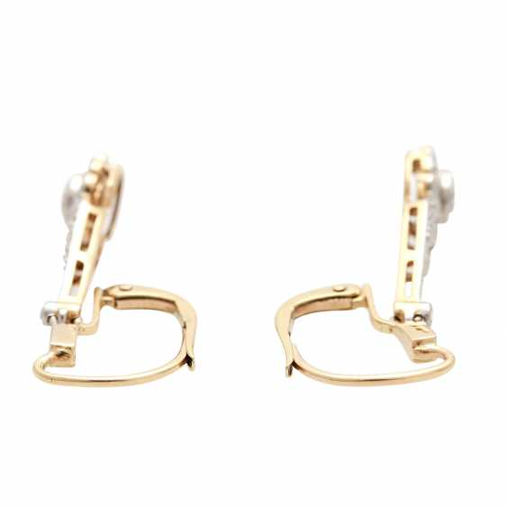 Earrings (Pair), Art Deco, m. the 1 old European cut diamond - photo 4