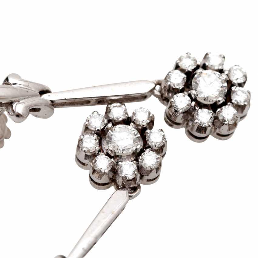 Stud earrings m. diamond trimming - photo 5
