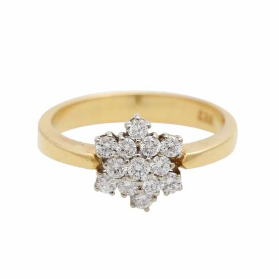 "Ladies ring ""snow crystal"" m. 13 brilliant-cut diamonds - photo 1"