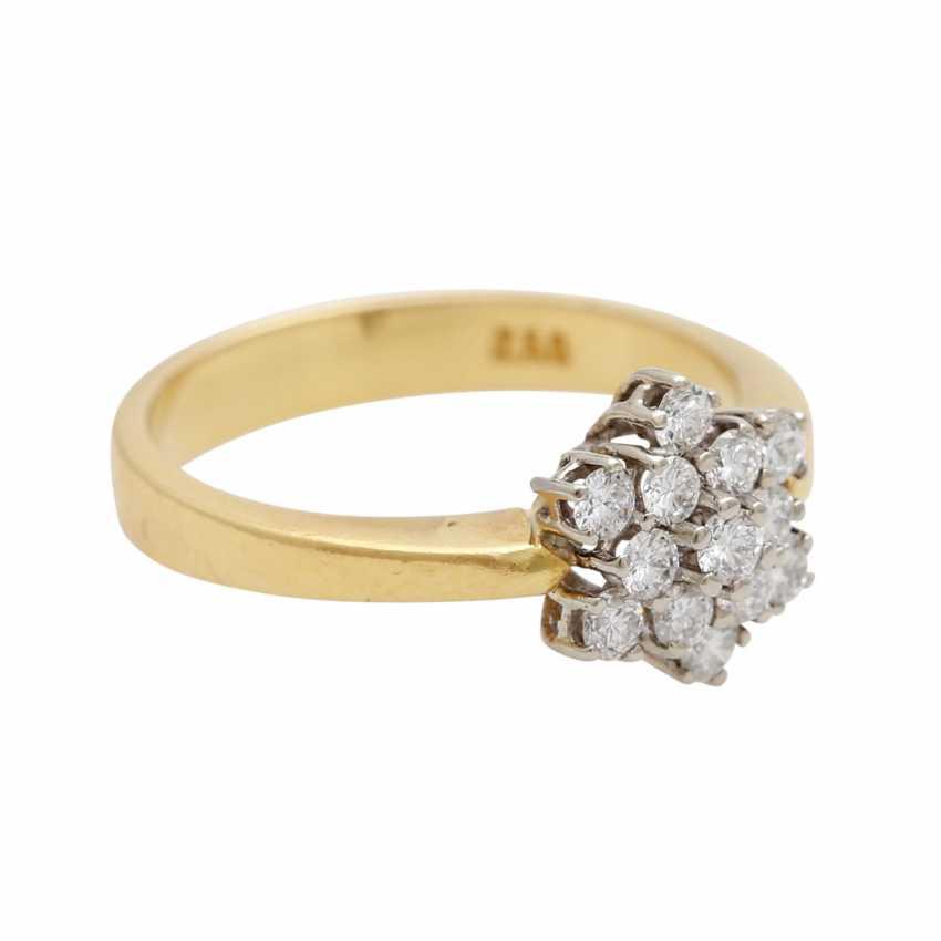 "Ladies ring ""snow crystal"" m. 13 brilliant-cut diamonds - photo 2"