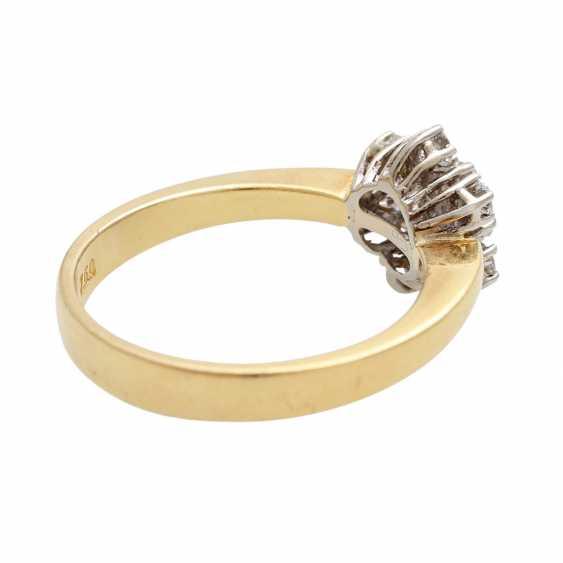 "Ladies ring ""snow crystal"" m. 13 brilliant-cut diamonds - photo 3"