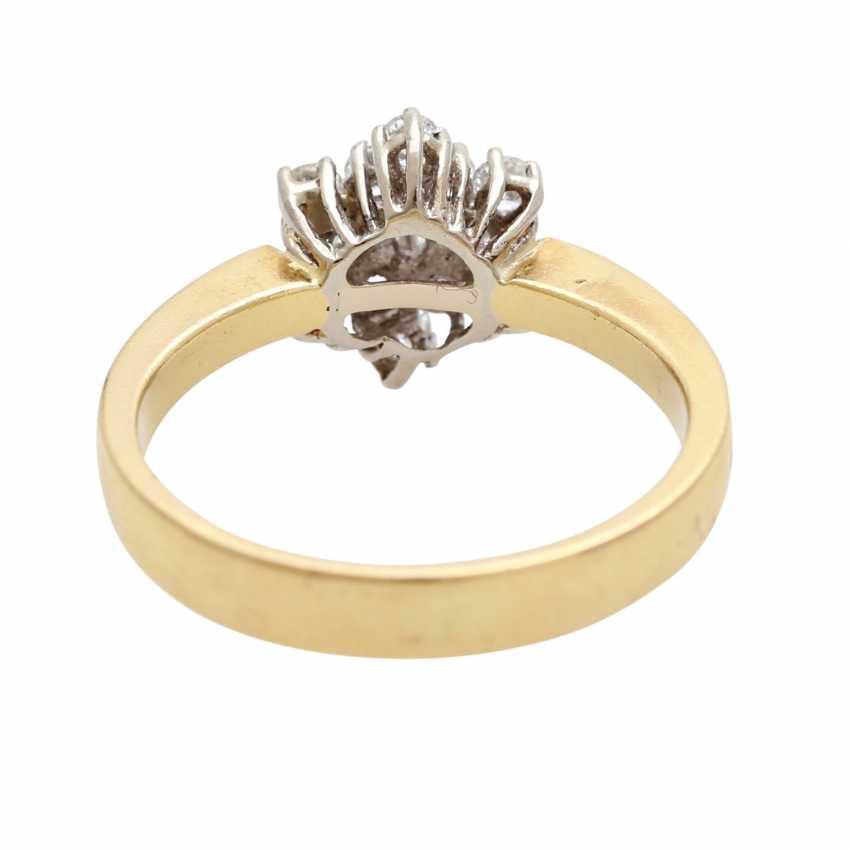 "Ladies ring ""snow crystal"" m. 13 brilliant-cut diamonds - photo 4"