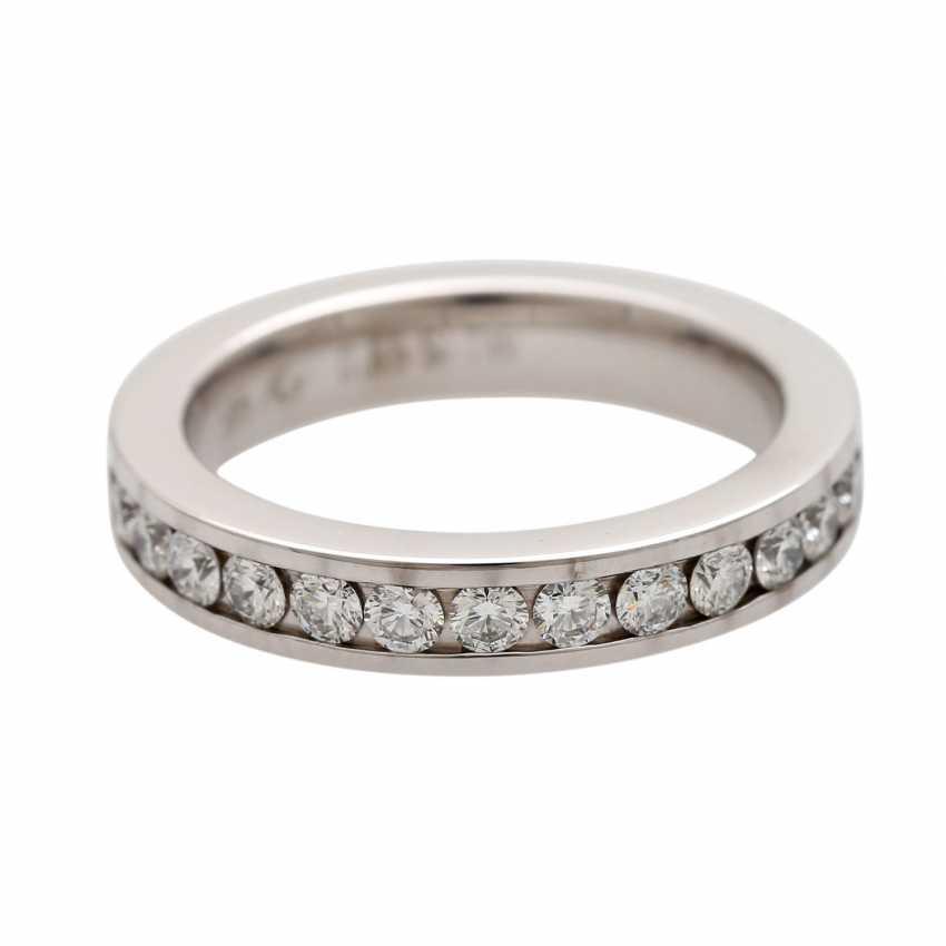 Half eternity ring with 13 brilliant-cut diamonds - photo 1