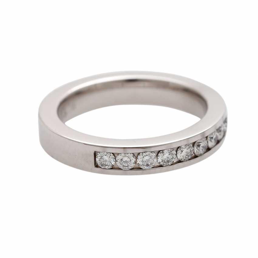 Half eternity ring with 13 brilliant-cut diamonds - photo 2