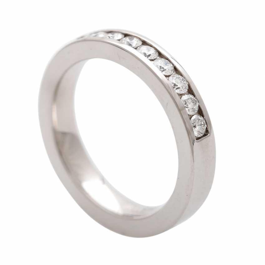 Half eternity ring with 13 brilliant-cut diamonds - photo 5