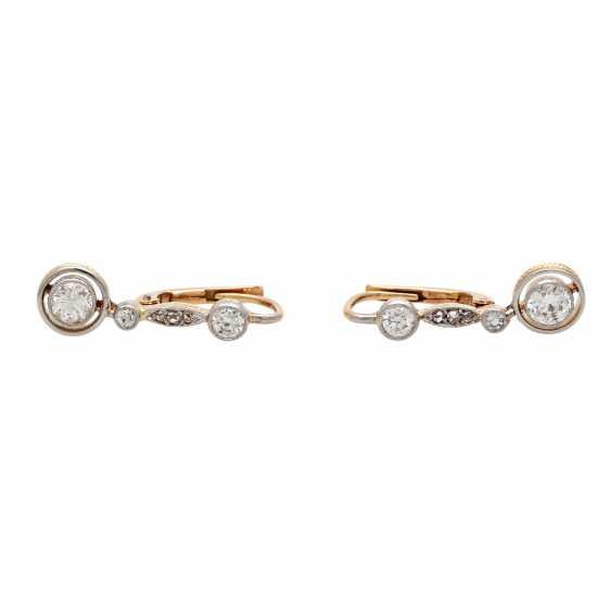 Earrings with diamonds - photo 1