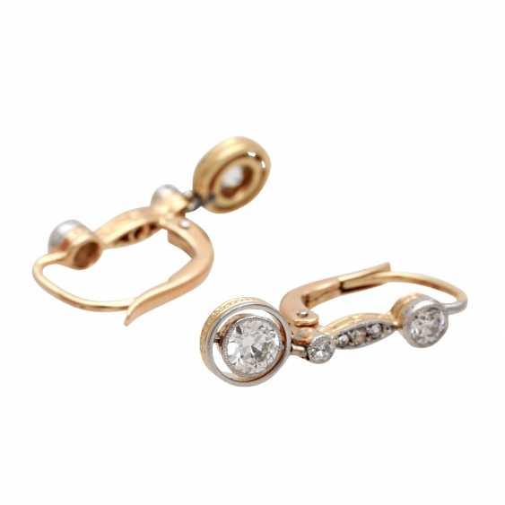 Earrings with diamonds - photo 3