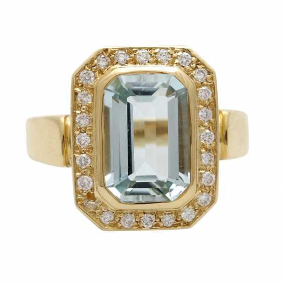 Ladies ring with aquamarine - photo 1