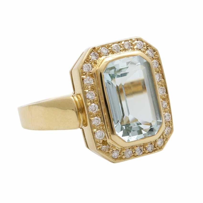 Ladies ring with aquamarine - photo 2